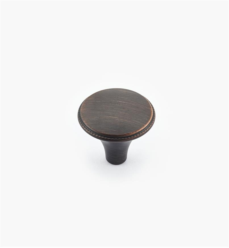 02A1570 - Atherly Hardware –Oil-Rubbed Bronze Round Knob, 1 3/16""