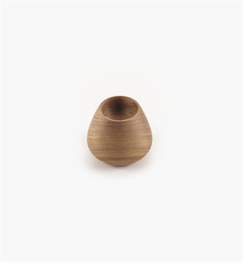 02G2024 - 45mm x 38mm Flowerbud Danish Walnut Knob