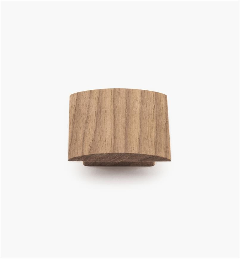 02G2026 - 70mm x 21mm Wave Danish Walnut Knob