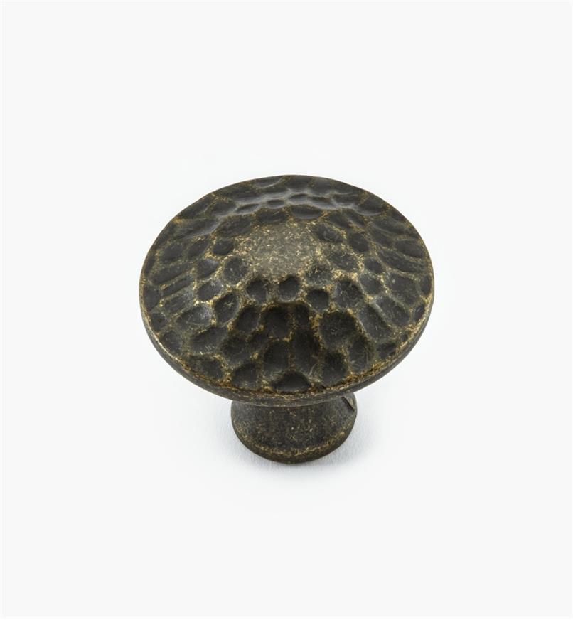 02W3681 - Bouton rond de 1 1/4 po x 1 1/8 po, série Craftsman, fini laiton antique