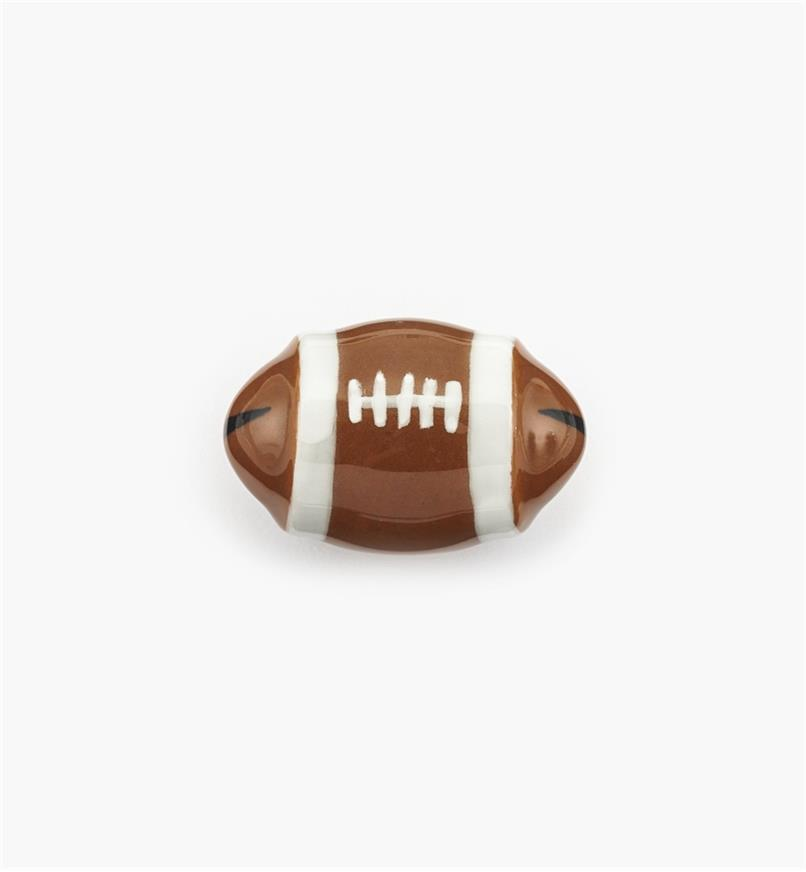 "00W5324 - 1 3/4"" x 1 1/8"" Football Ceramic Knob, each"