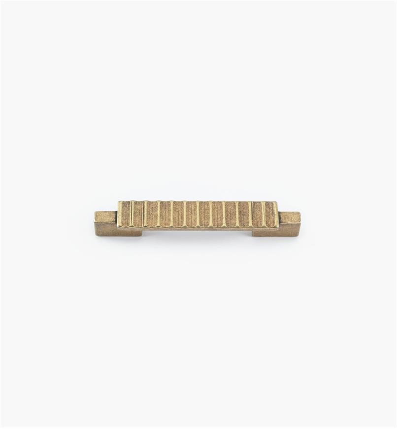 01G1862 - Poignée Passerelle rustique, fini laiton antique, 103 mm (64 mm)