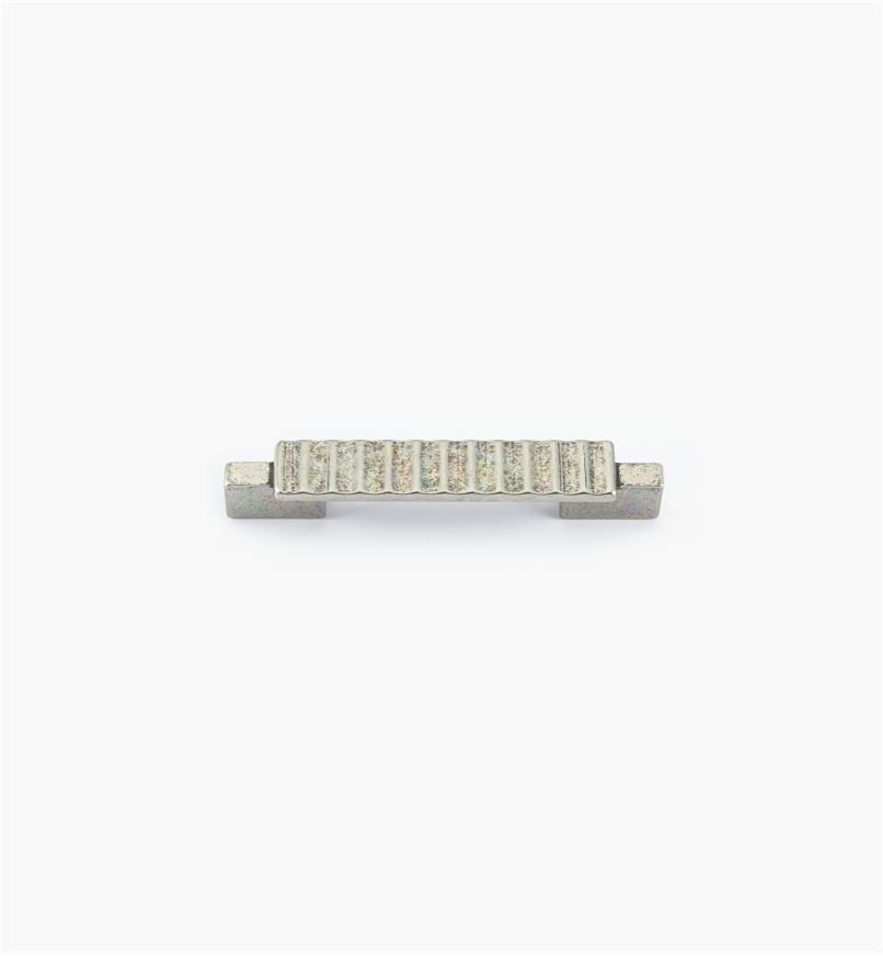 01G1872 - Poignée Passerelle rustique, fini argent antique, 103 mm (64 mm)