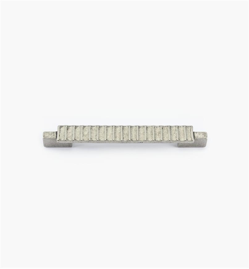 01G1873 - Poignée Passerelle rustique, fini argent antique, 135 mm (96 mm)