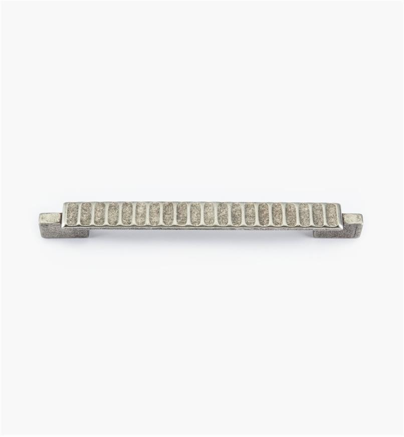 01G1874 - Poignée Passerelle rustique, fini argent antique, 166 mm (128 mm)