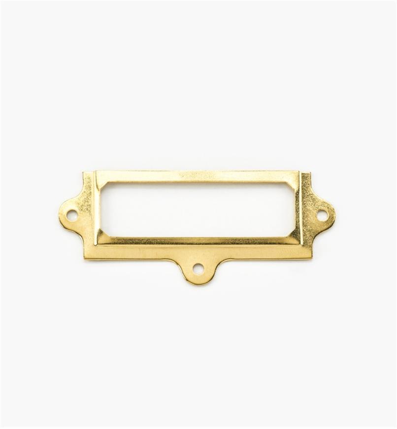 00L0701 - Porte-étiquette en laiton estampé,  3pox11/8po