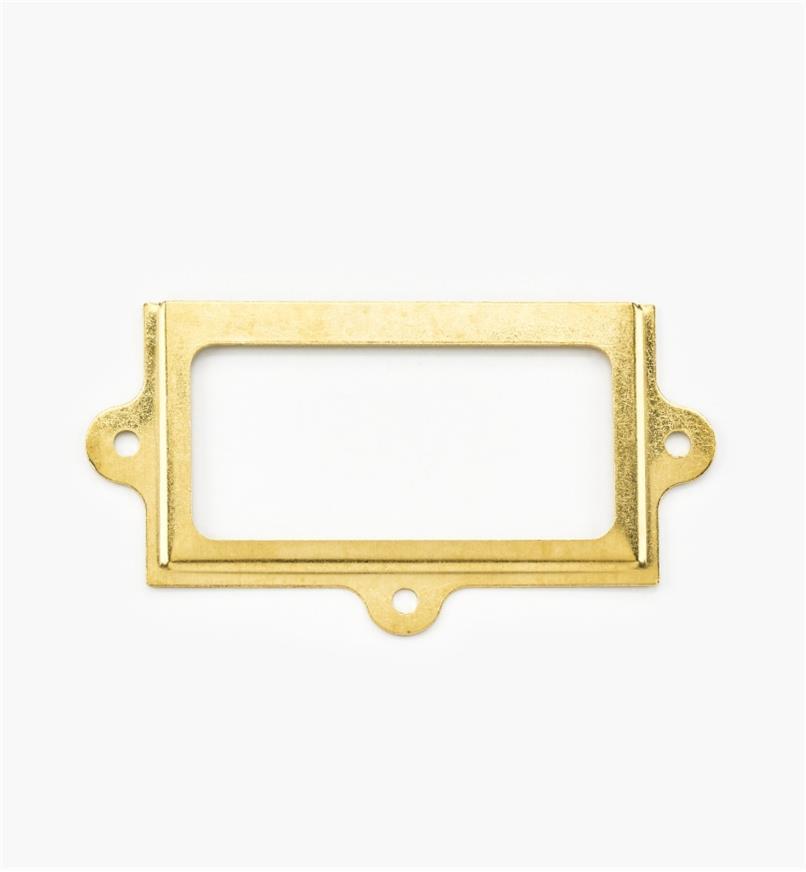00L0720 - Porte-étiquette en laiton estampé,  31/4pox113/16po