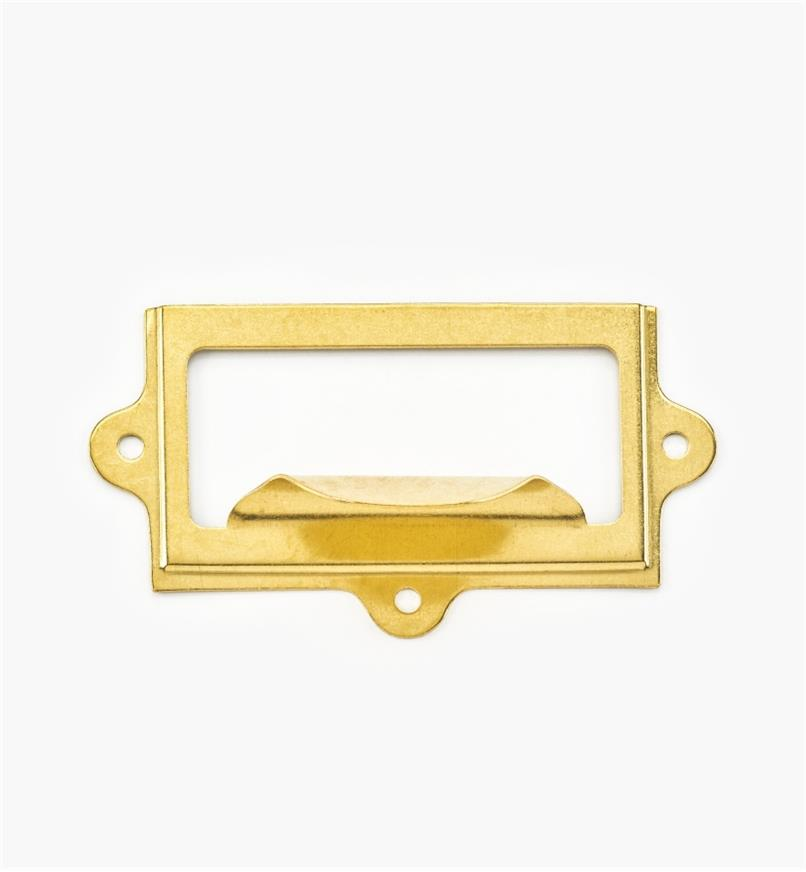 00L0725 - Porte-étiquette à tirette en laiton estampé, 31/4pox113/16po