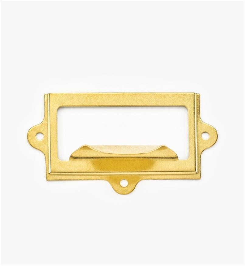 "00L0725 - 3 1/4"" x 1 13/16"" Stamped Brass Frame/Pull"