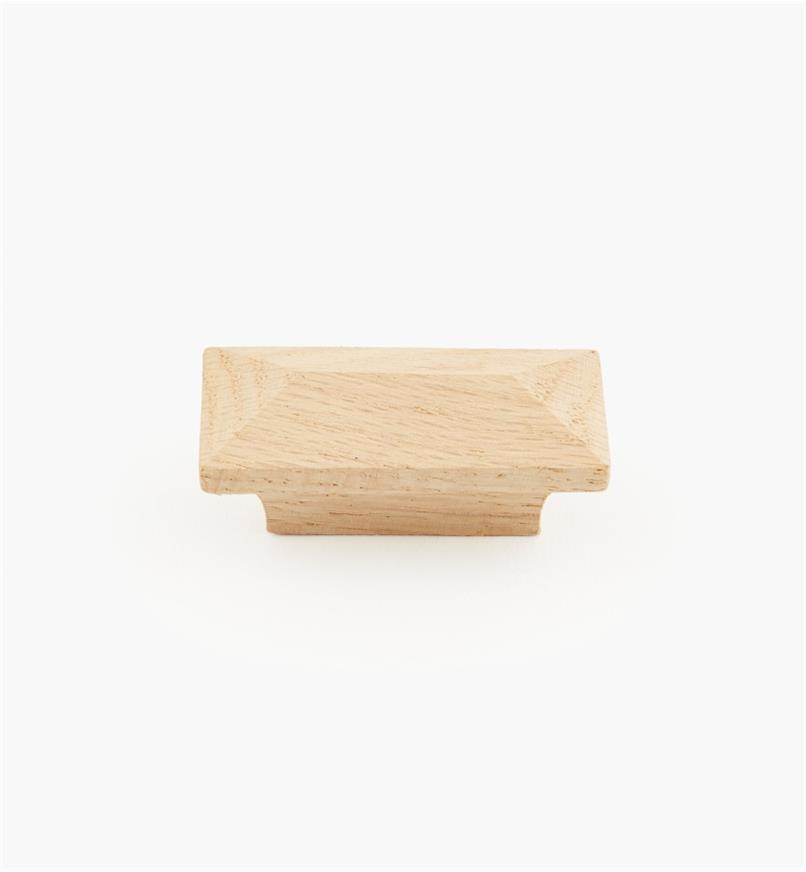 02G1302 - Poignée à face pyramidale en chêne rouge, 2 po x 7/8 po