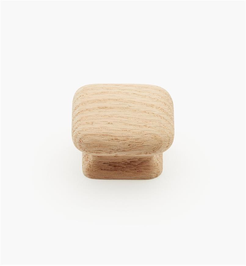 """02G1401 - 1 1/2"""" x 15/16"""" Red Oak Flat Knob"""