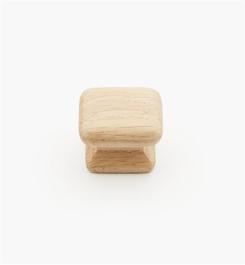 """02G1402 - 1 1/4"""" x 15/16"""" Red Oak Flat Knob"""
