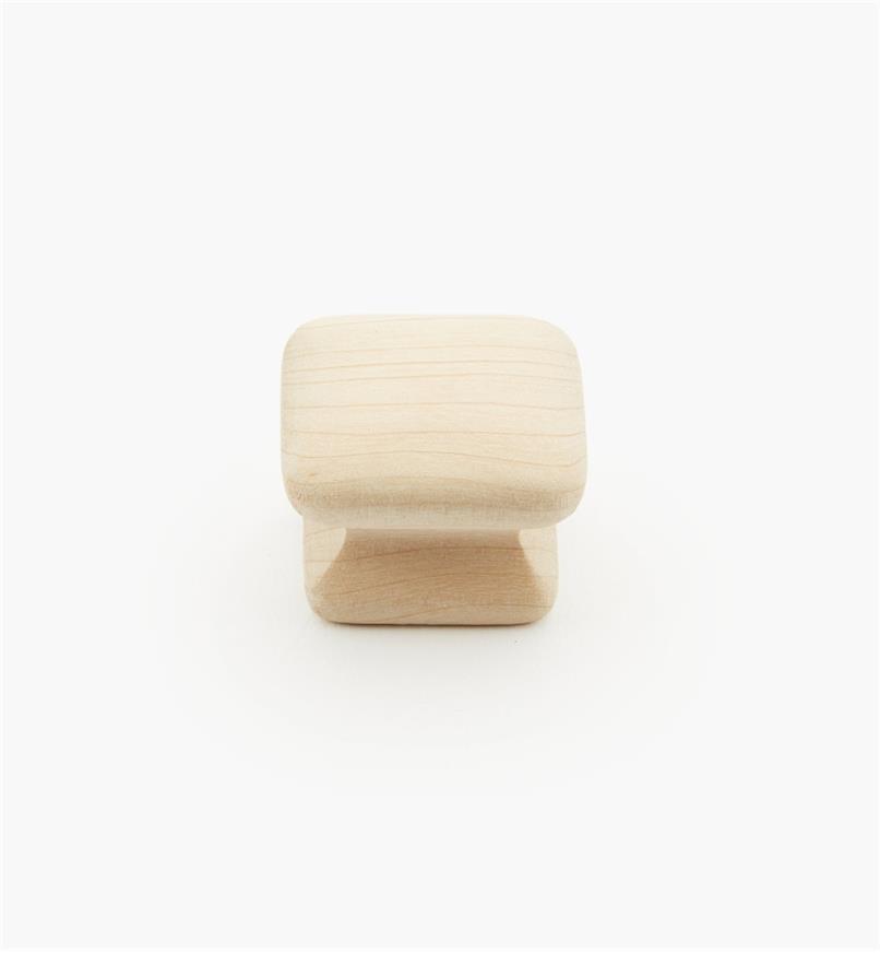 """02G1412 - 1 1/4"""" x 15/16"""" Maple Flat Knob"""