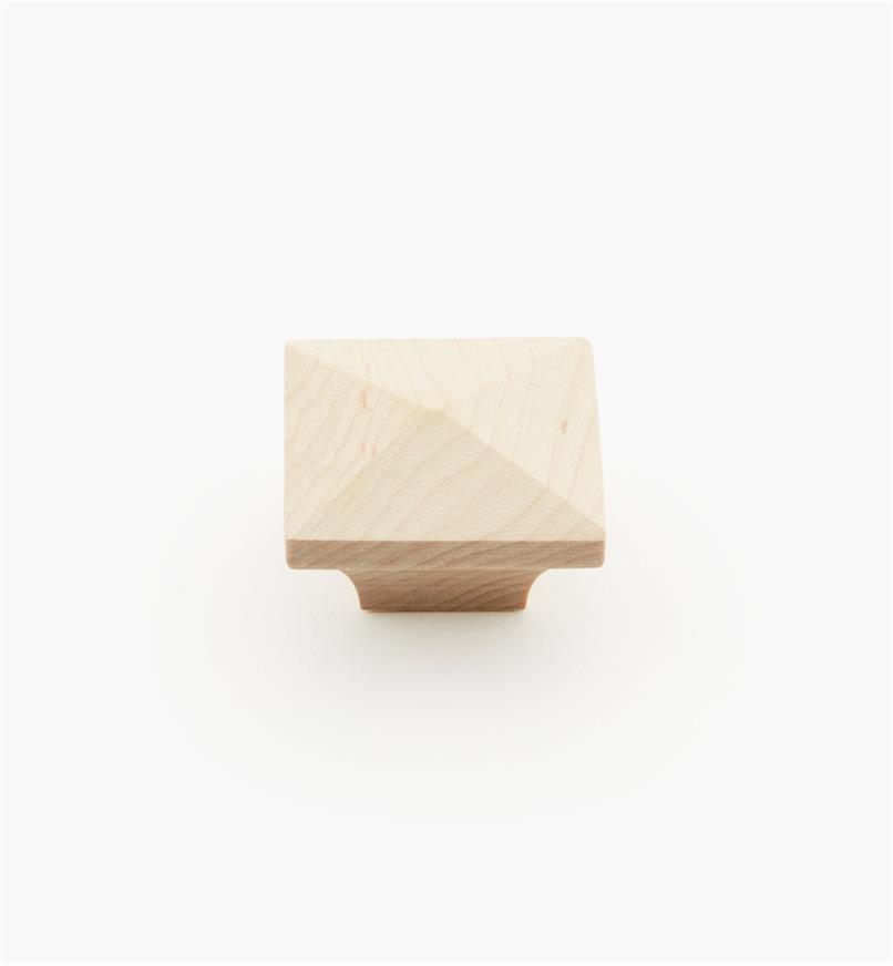 02G1413 - Bouton à face pyramidale en érable, 1 1/4 po x 3/4 po