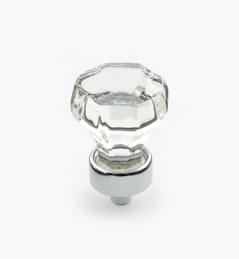 01W2515 - Crystal Knob/Chrome