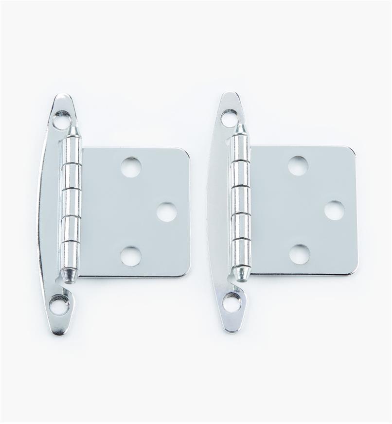 02H1302 - Chrome Plate Flush Hinge, pair