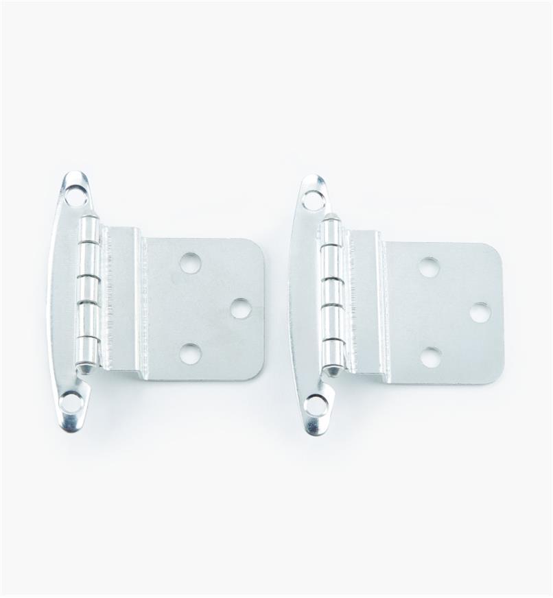 "02H1312 - 3/8"" Chrome Plate Offset Hinge, pair"