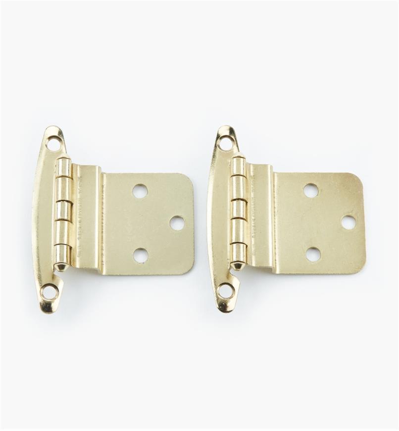"02H1313 - 3/8"" Brass Plate Offset Hinge, pair"