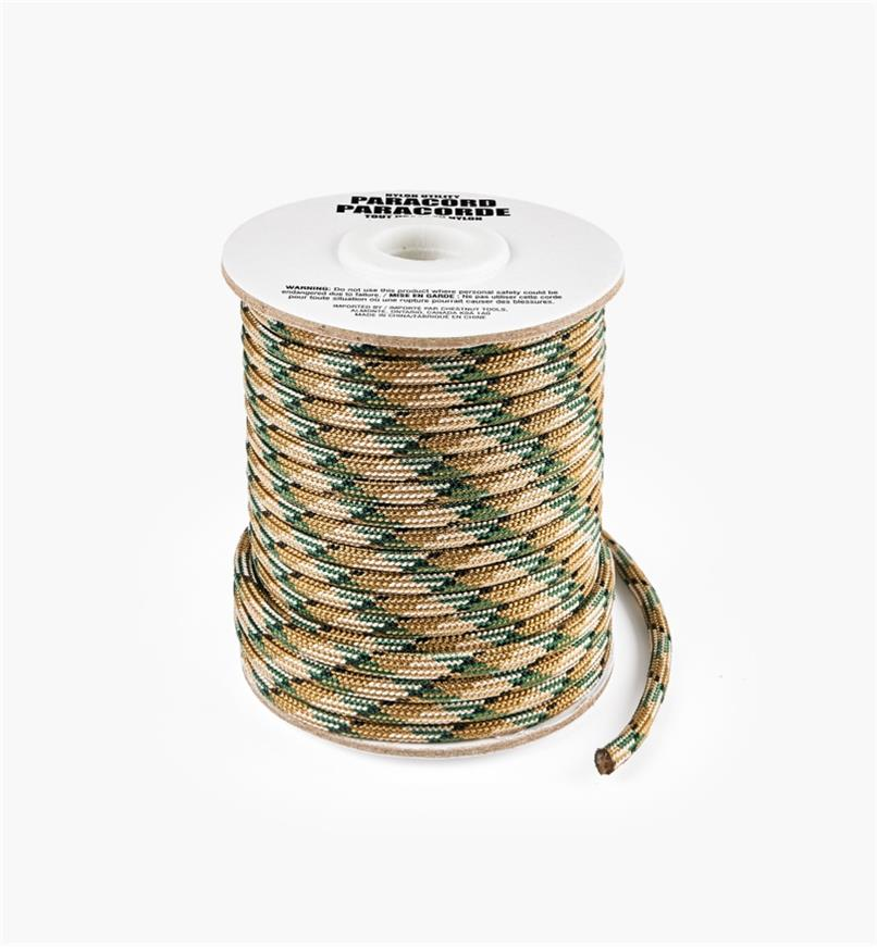 09A0715 - 50' Paracord, Camouflage Brown