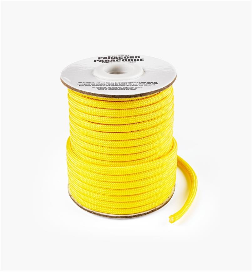 09A0718 - 50' Paracord, Yellow