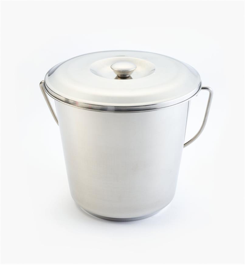 XG150 - Seau à compost en acier inox., 6L