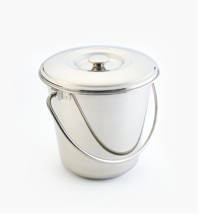 XG155 - Seau à compost en acier inox., 4L