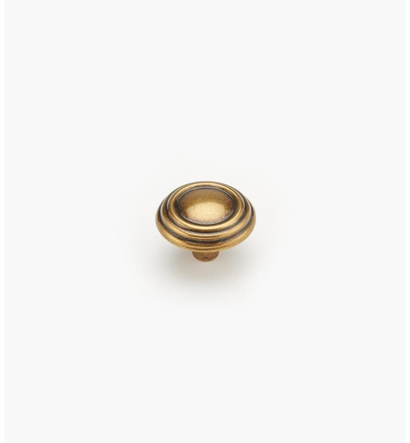 02A2316 - Bouton de 1 3/16 po x 7/8 po,série Brass and Sterling Traditions, fini laiton bruni