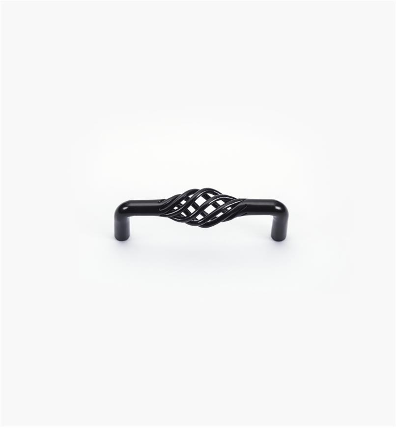 02W1030 - Poignée fixe de 3po x 3/4 po,série Torsades, fini noir mat