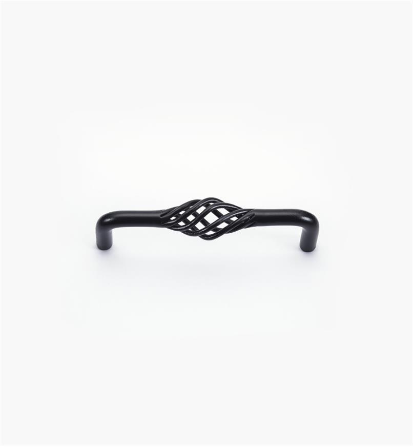 02W1031 - Poignée fixe de 96mm x 3/4 po,série Torsades, fini noir mat