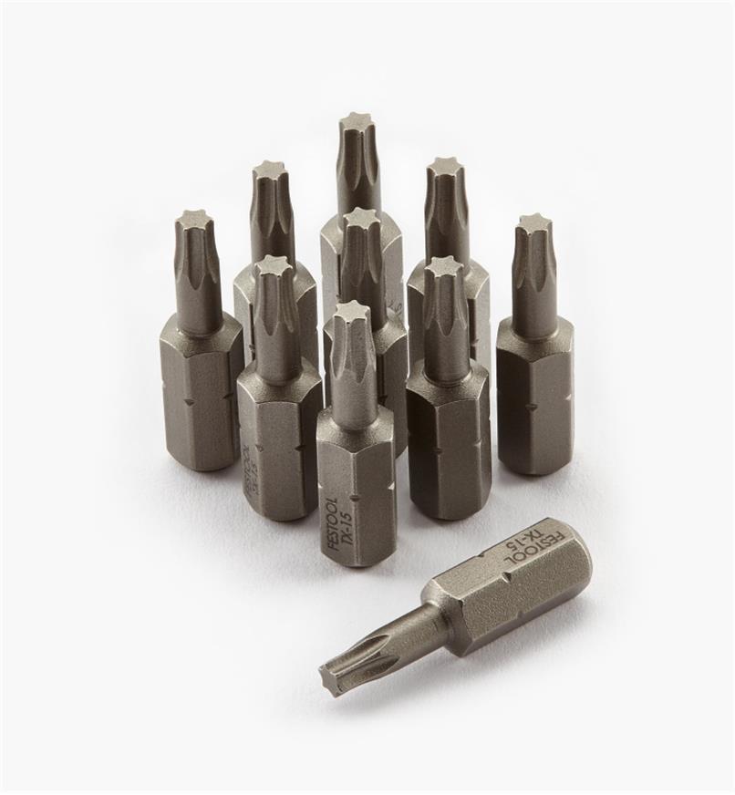 ZA490505 - Embout Torx no 15, 10 pièces