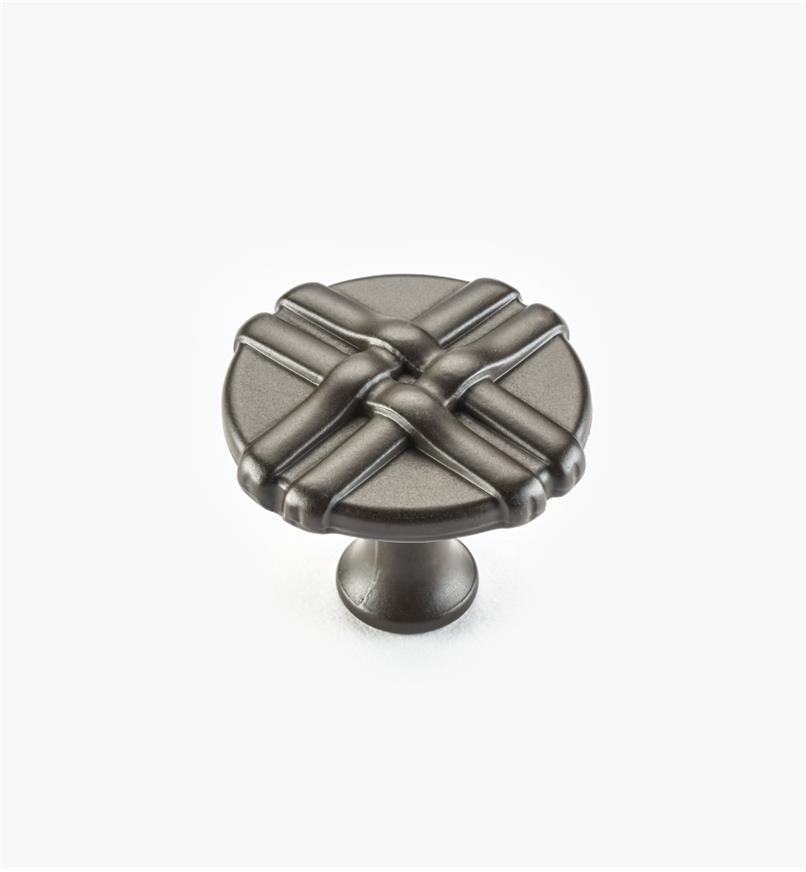 01W0636 - 34mm Oil-Rubbed Bronze Ribbon Knob