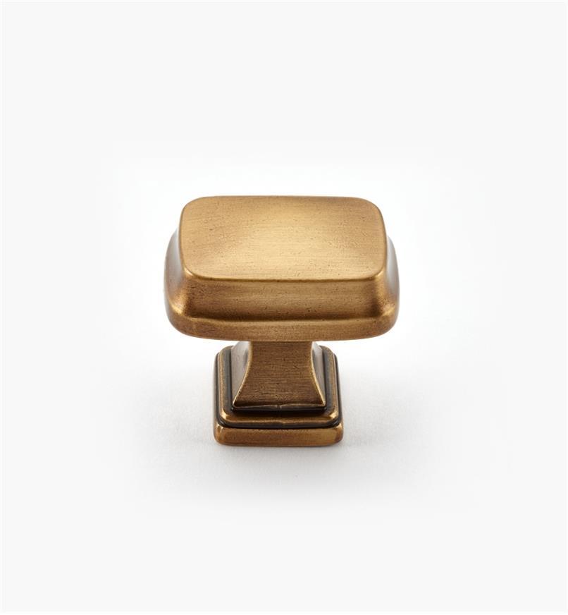 02A1690 - Bouton rectangulaire Revitalize, 11/4po, bronze doré, l'unité