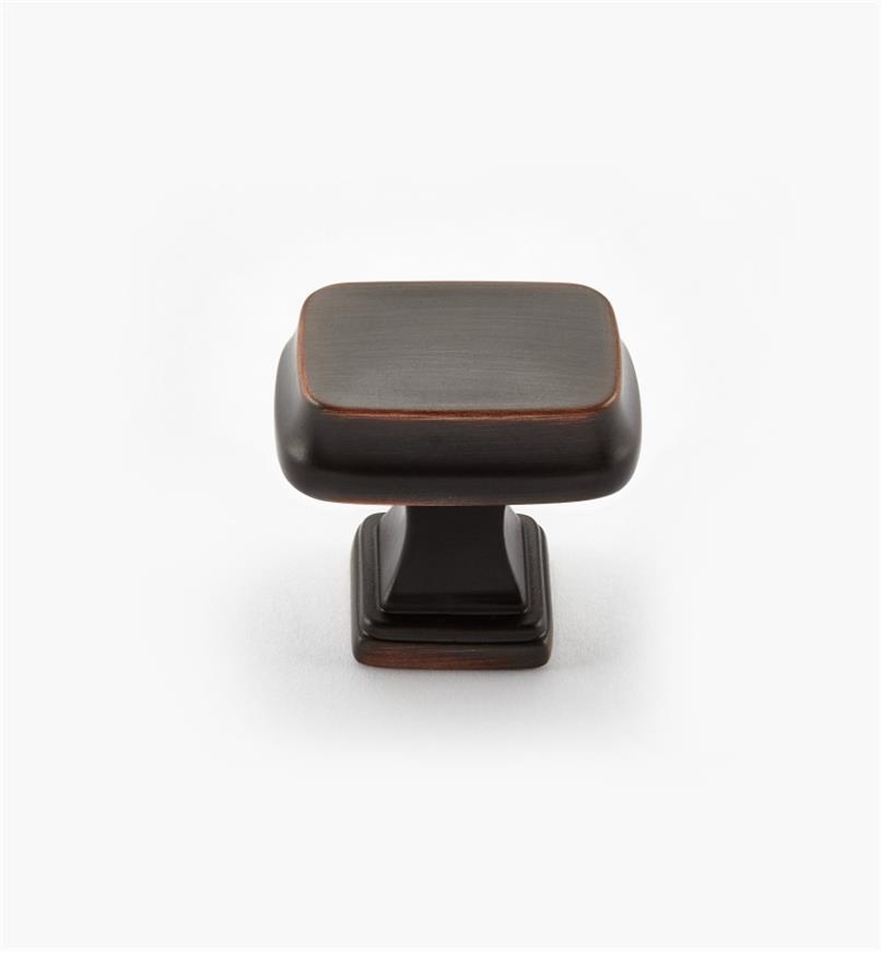 02A2220 - Bouton rectangulaire Revitalize, 11/4po, bronze cuivré, l'unité