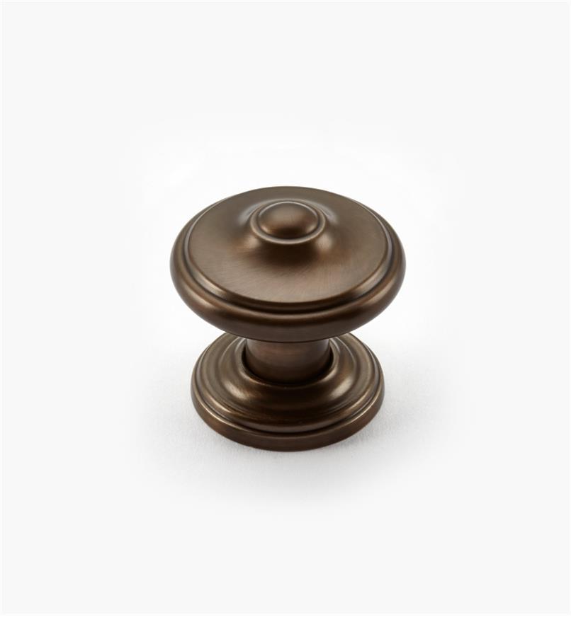 "02A2221 - Revitalize CBZ 1 1/4"" Peaked Round Knob, each"