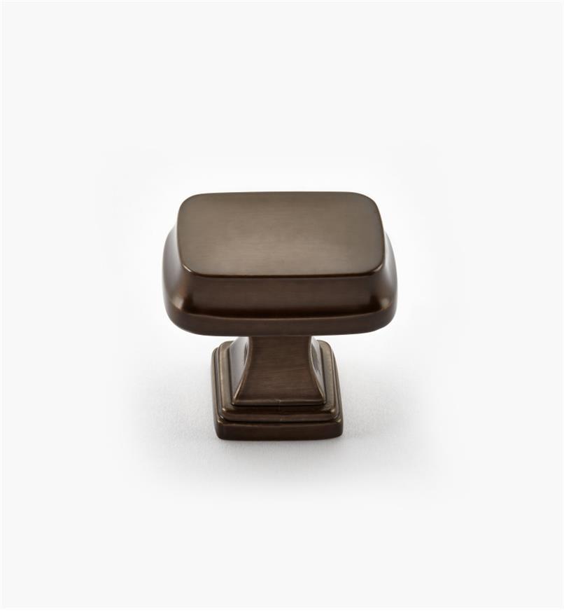 02A2240 - Bouton rectangulaire Revitalize, 11/4po, bronze huilé, l'unité