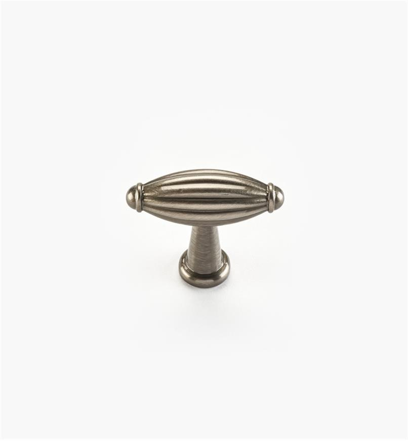 "02W4430 - Olive Suite – 1 3/4"" x 1 7/16"" Antique Nickel Knob"
