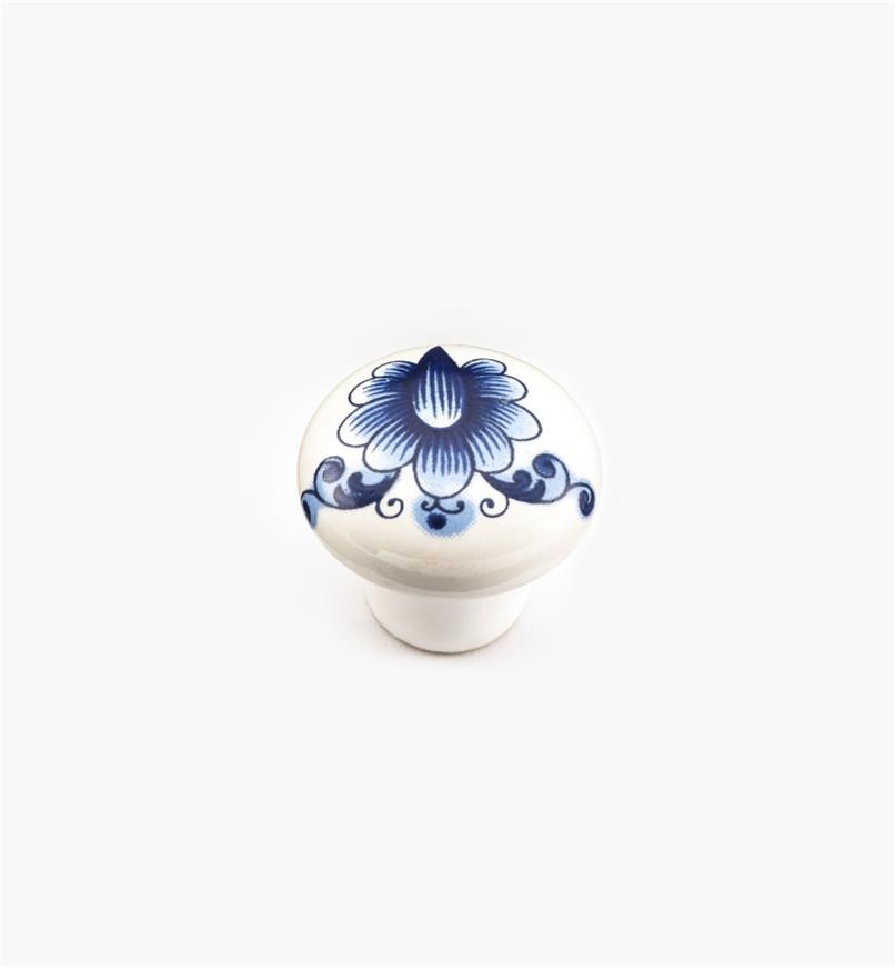 """00W7102 - 1"""" x  3/4"""" Blue Ceramic Knob"""