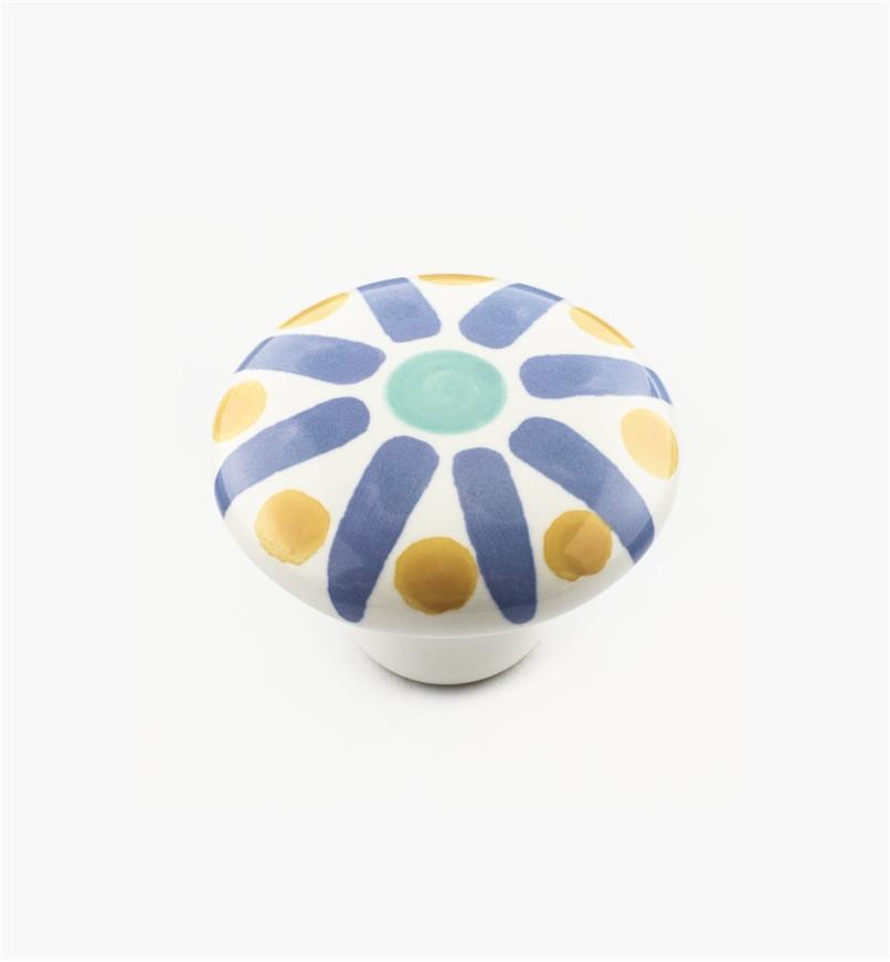 01W3101 - Blue Sunburst Knob