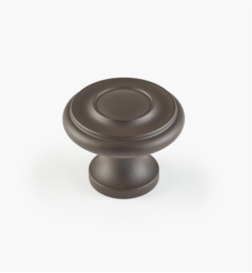 02W1112 - Bouton annelé de 1 1/4 po x 1 po, série Bronze