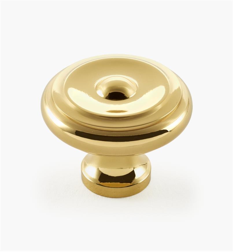 "03W1307 - Liberty Brass, 1 1/2"" × 1 1/4"" Top Rings Knob, ea."
