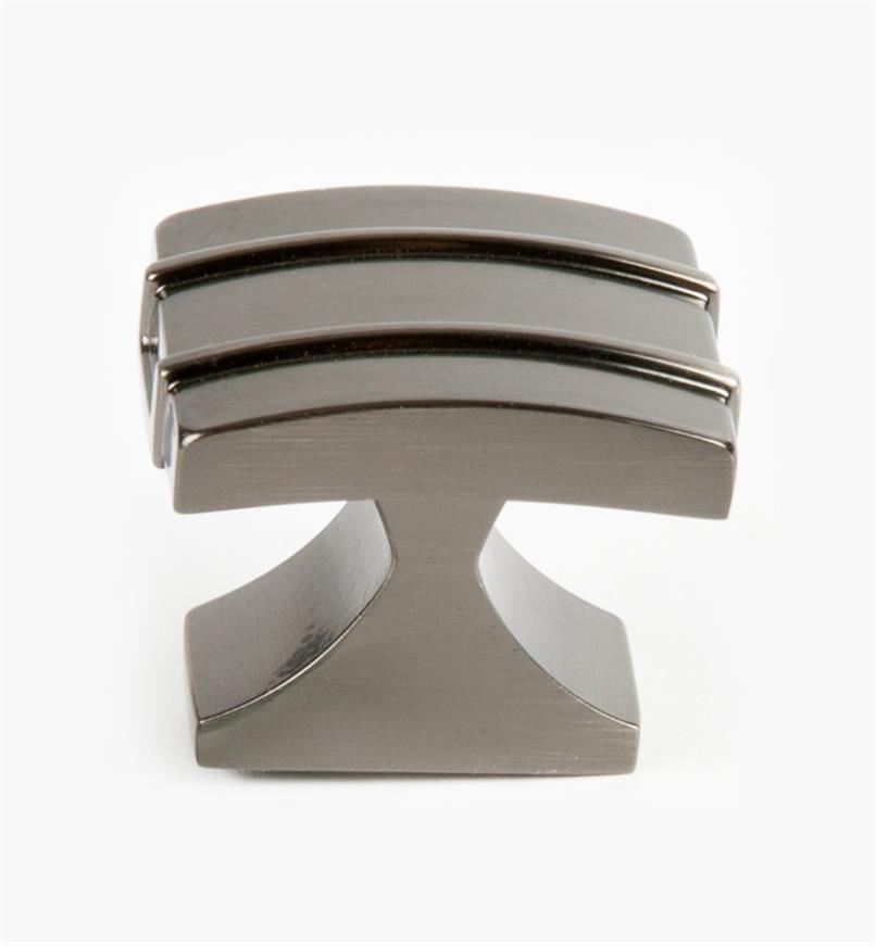 02A1430 - Petit bouton Davenport, 11/4po x 1po, bronze à canon, l'unité