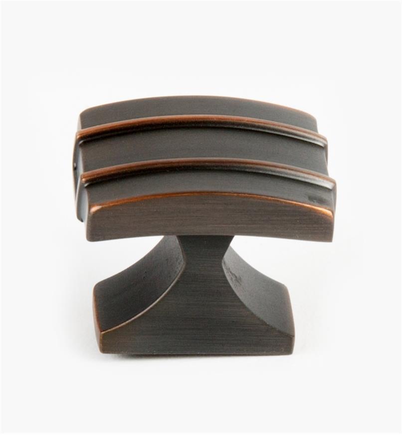 02A1435 - Petit bouton Davenport, 11/4po x 1po, bronze huilé, l'unité