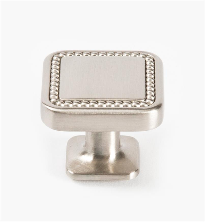 "02A1640 - Carolyne Satin Nickel 32mm (1 1/4"") Square Knob, each"