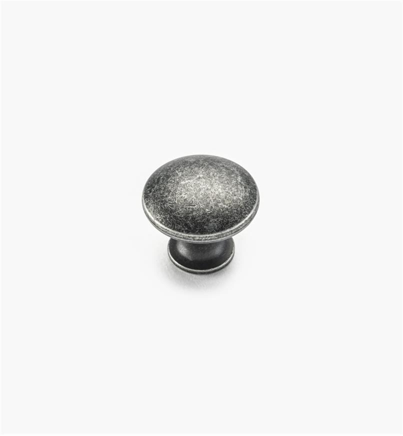"02W4263 - 3/4"" x 5/8"" Antique Silver Knob"