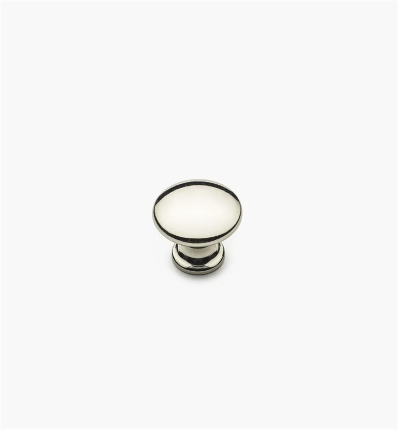 "02W4342 - 5/8"" x 5/8"" Polished Nickel Knob"