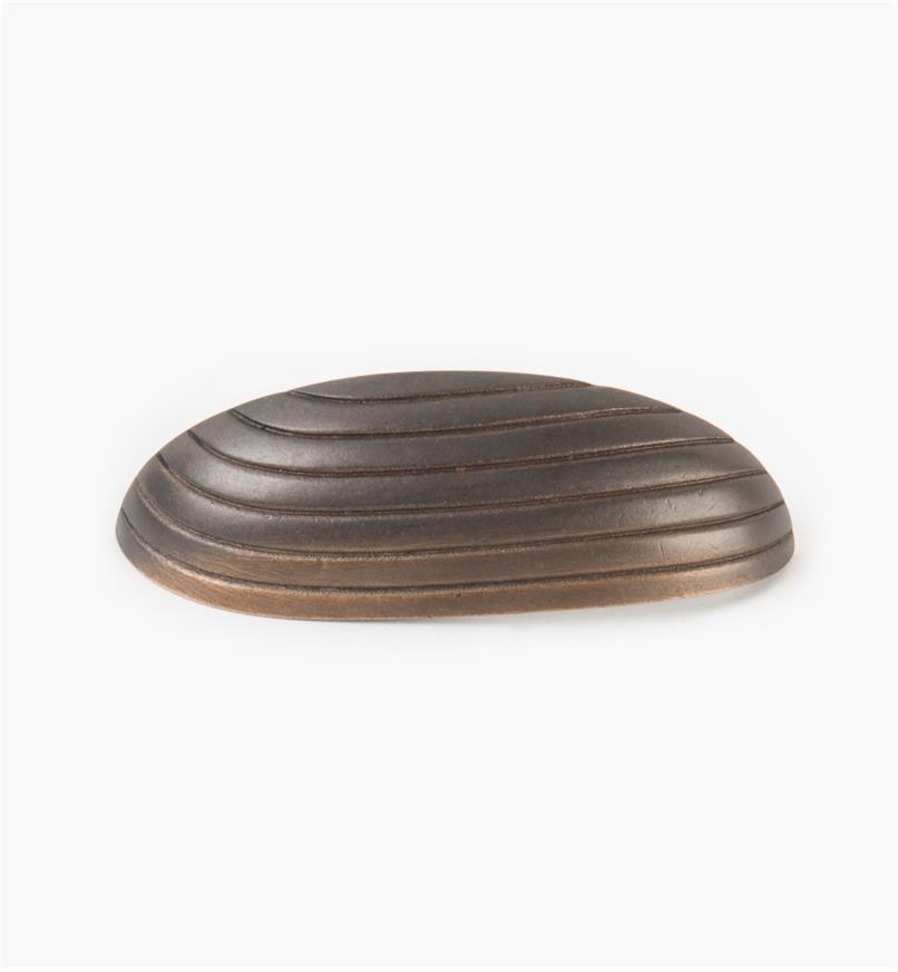 03G0345 - Poignée en coupelle de 3po x 1po, série Canyon, fini bronze vieilli