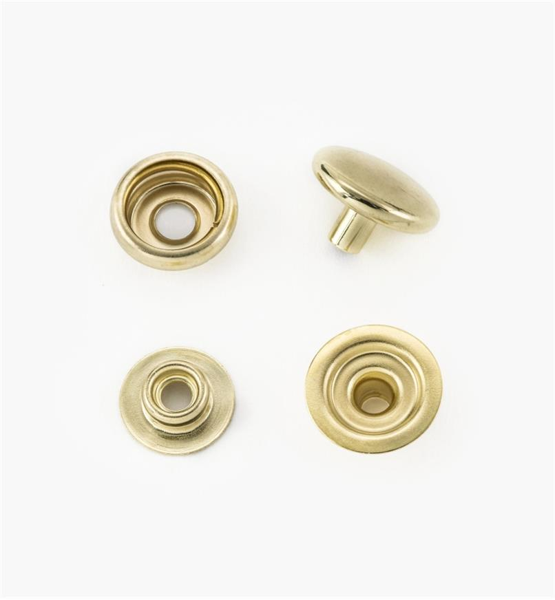 "97K0991 - CS Osborne Solid Brass 5/8"" Snap Buttons (25)"