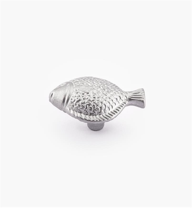 00W5117 - Bouton océanique, poisson, 25mm x 46mm