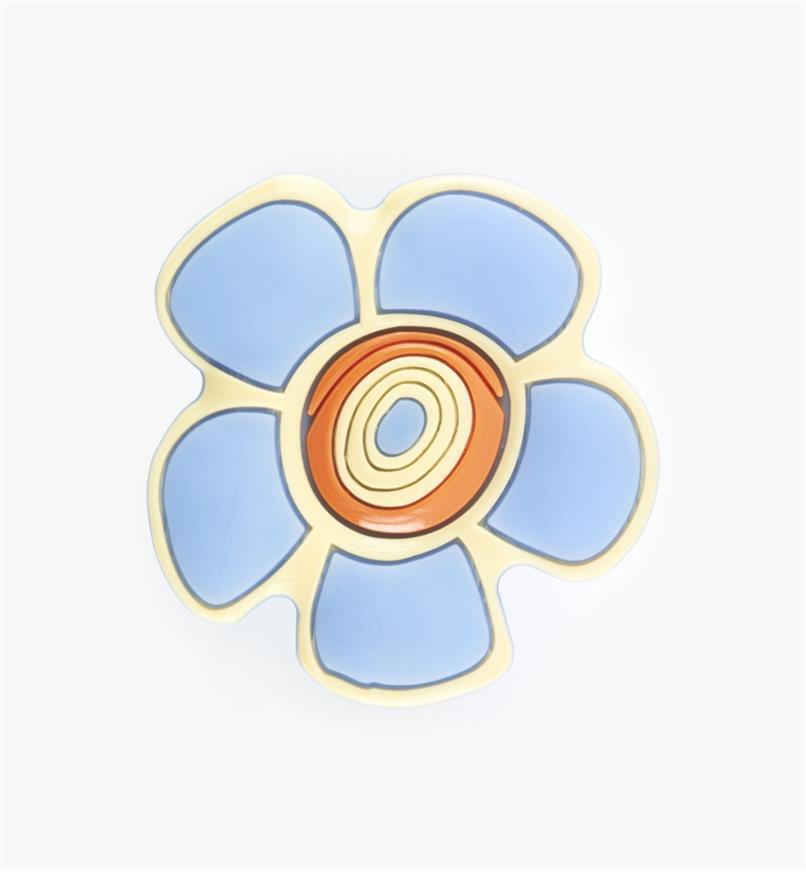 00W5615 - Bouton fleur bleue