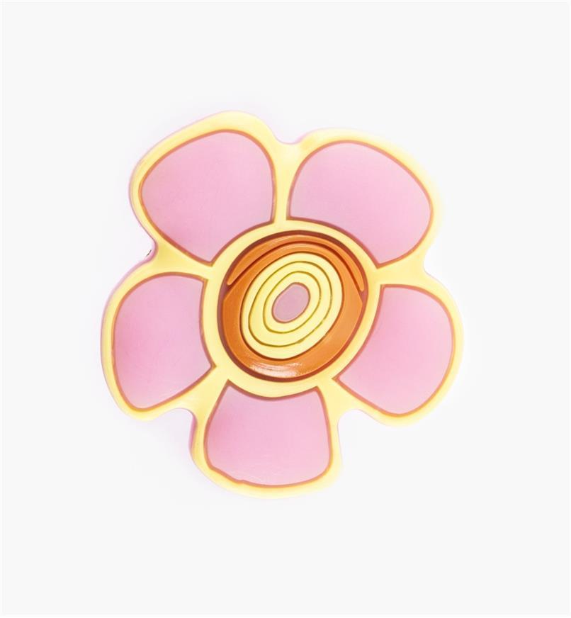 00W5616 - Bouton fleur rose